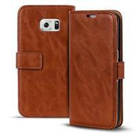 Handy Tasche Samsung Galaxy S6 Edge Flip Cover Case Schutz Hülle Wallet Etui