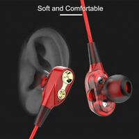 Wired earphone Super Bass Noise Isolation HIFI 3.5mm dual drive stereo In-E W4D8