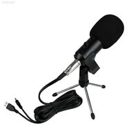 Professional USB Wired Studio Mic Condenser Recording Microphone w/ Stand