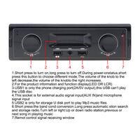 Car In-dash Radio Stereo Audio Head Unit Player MP3/USB/SD/FM/AUX-IN Receiver