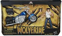 Marvel Legends Action Figure Wolverine with Motorcycle Hasbro 15 Cm