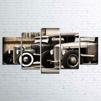 Hot Rod Vintage Old Car 5 Piece Canvas Art Print Picture Wall Decor