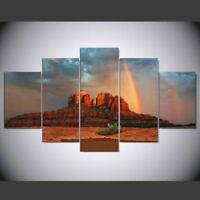 Sedona Rainbow Mountain  5 Piece Canvas Wall Art Print Home Decor