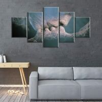 Abstract Anime Love Kissing  5 Pcs Canvas Wall Art Print Picture Home Decor