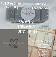 Highly Scented Wax Melt Snap Bar-4 free melts orders over £8-Over 50 fragrances!