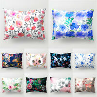 Flower Painting Rectangle Throw Pillow Case Bed Cushion Cover Home Decor Filmy