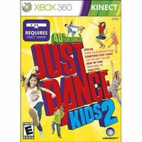 Just Dance Kids 2 Xbox 360 Game Complete Family Fun! Boys & Girls!