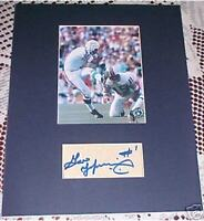 Miami Dolphins Garo Yepremian Signed Cut Autograph Matted COA