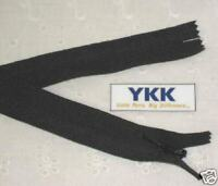 "(100) 11"" Invisible Zippers ~Closed Bottom~ Black ~ YKK"