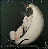 LTD EDIT. MOUNTED SIAMESE CAT PRINT FROM ORIGINAL PAINTING BY SUZANNE LE GOOD