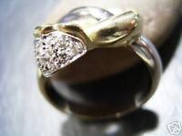 REIF-DESIGN - ELEGANTER BICOLOR BRILLANT RING - MASSIV 750 GOLD