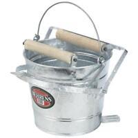Galvanized Mop wringer pail, 12 quart