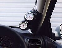 TWIN 2 GAUGE PILLAR MOUNT POD BMW MINI ONE +COOPER +S