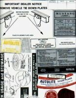 MUSTANG 1967 Restoration Decal Kit, 67