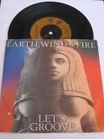 """EARTH WIND & FIRE - Lets Groove - 1981 UK 7"""" Vinyl SIngle"""