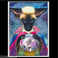 ACEO FORTUNE TELLER SIAMESE CAT PAINTING PRINT FROM ORIGINAL BY SUZANNE LE GOOD