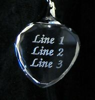 PERSONALIZED Heart Crystal Key Chain --- Up to 3 Lines