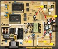 Repair Kit, Westinghouse LCM-19w4 LCD Monitor, Caps