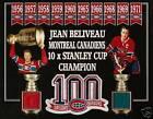 JEAN BELIVEAU CUP PHOTO 100 PATCH FORUM RED-BLUE SEAT