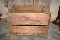 Vintage Pair Pepsi-Cola Wood Crate Box