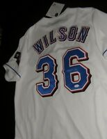 JSA C.J. WILSON SIGNED 2011 World Series Texas Rangers Jersey