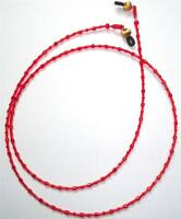 Toho Glass Seed Beads Red Eyeglass Holder, Chains