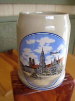 Old Germany handcrafted Munchen Bavaria Beer Stein