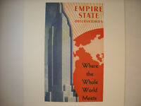 Vintage New York City Printed Material From Empire State Observatories