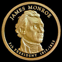 2008 S James Monroe Presidential Dollar ~ Mint Proof Deep Cameo from Proof Set