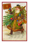 Victorian Father Christmas Santa Claus #33 Counted Cross Stitch Chart