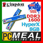 Kingston HyperX 8GB Kit DDR3 1600Mhz Memory RAM 2 x 4GB Dual Channel