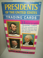1960 GOLDEN PRESS PRESIDENTS OF USA 33 TRADING CARDS BOOKLET NEAR MINT VINTAGE