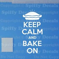 KEEP CALM AND BAKE ON Crown Quote Vinyl Wall Decal Decor Sticker Lettering Art