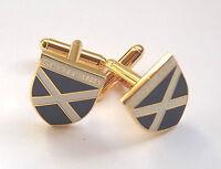 Scotland Saltire Enamel Cufflinks + presentation box,free UK post