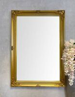 """ANTIQUE GOLD ORNATE SHABBY CHIC LARGE WALL MIRROR - 24"""" x 34"""" (60cm x 85cm)"""