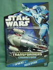 STAR WARS TRANSFORMERS CROSSOVERS- CAPTAIN REX to FREECO SPEEDER