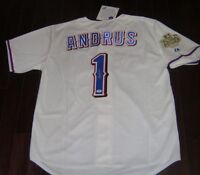 PSA/DNA ELVIS ANDRUS SIGNED #1 Texas Rangers World Series Jersey