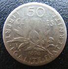 50 CENTIMES SEMEUSE 1898 ARGENT