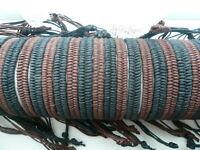2 x Brown Cotton Plaited Wristband Bracelet Surfer Girls Boys