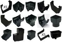 Floplast Black Square 114mm Gutter Fittings & 65mm Down Pipe Fittings