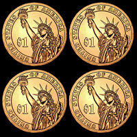 2012 P+D Chester A. Arthur ~ Pos A+B ~ From US Mint Roll ~ Four Coins