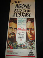 THE AGONY AND THE ECSTASY original  poster STONE LITHO ART!