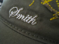 Smith army green beret cap hat with bill one size fits most fatigue lining nwot