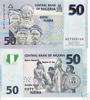 NIGERIA 50 Naira Banknote World Money UNC Currency Africa Note p35 Bill 2007