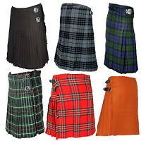 Various Colour's of Scottish Traditional Tartan Kilts, Kilt, Sporran, Men's Kilt