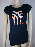FENCHURCH LADIES NAVY BLUE ROUND NECK T SHIRT SIZE SMALL