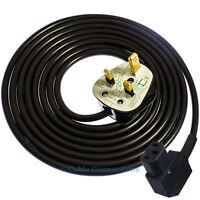 5M BLACK RIGHT ANGLED IEC C13 KETTLE ANGLE POWER CABLE LEAD TV PC HIFI PRINTER
