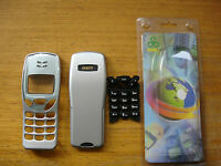 NOKIA 3210 HOUSING - FRONT FASCIA WITH LENS, BACK BATTERY COVER & KEYPAD SILVER