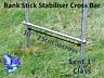 "Stainless Steel Bank Stick Stabiliser Cross Bar 10"" 25cm Carp Fishing Tackle"