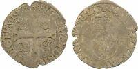 Henri III, Douzain aux 2H, 1er type,1588, P=Dijon - 76